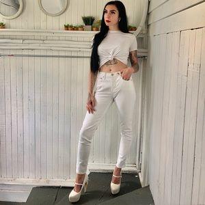 White banana republic skinny jeans